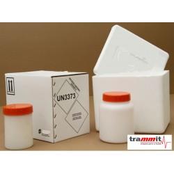 Embalagem para transporte de protocolos clínicos