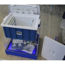 Embalagem Hemo Safe para transporte de hemoderivados