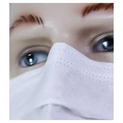 Mascara Cirurgica Tripla com Tiras, Filtro
