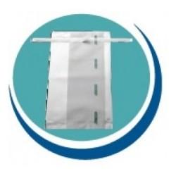 Saco plástico 1650ml, para amostras sólidas e líquidas, estéril