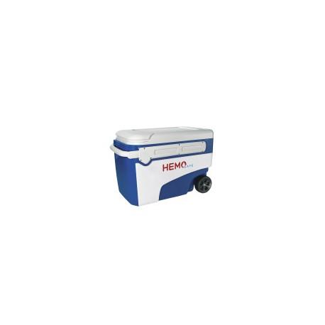 Caixa térmica rígida dedicada ao transporte de hemoderivados