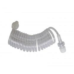 Linha em espiral com válvula anti-refluxo