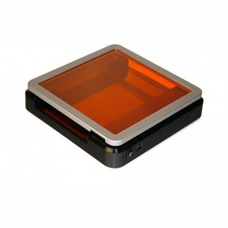 Transiluminador de luz azul de LED e filtro âmbar