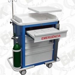 CARRO DE EMERGÊNCIA COM ACESSÓRIOS OXIGENOTERAPIA